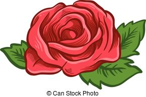 Drawn red rose sketch Rose One  Illustration Vector