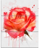 Drawn red rose sketch Hand  Art with Hot