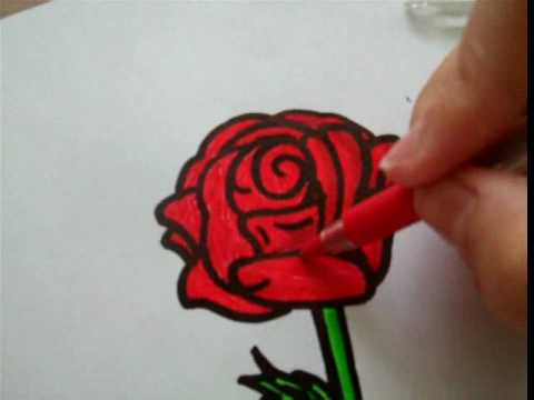 Drawn red rose small A rose draw to [for