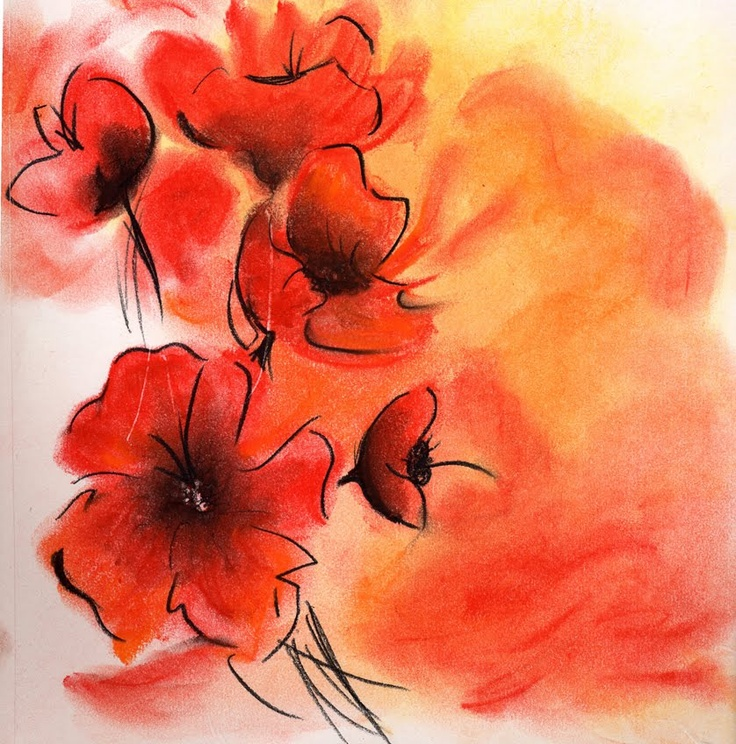 Drawn red rose soft pastel 86 Riehlman on Brittany Pastel