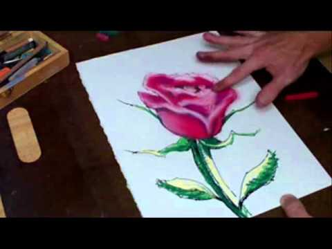 Drawn rose pastel drawing Joseph Time Joseph Every thorn