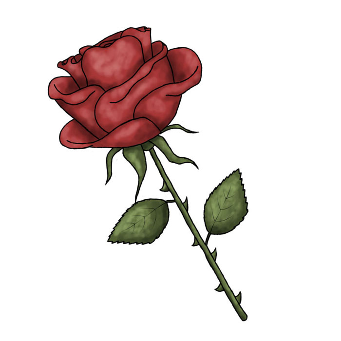 Drawn red rose thorn clipart Images Drawing Drawing Image Drawing
