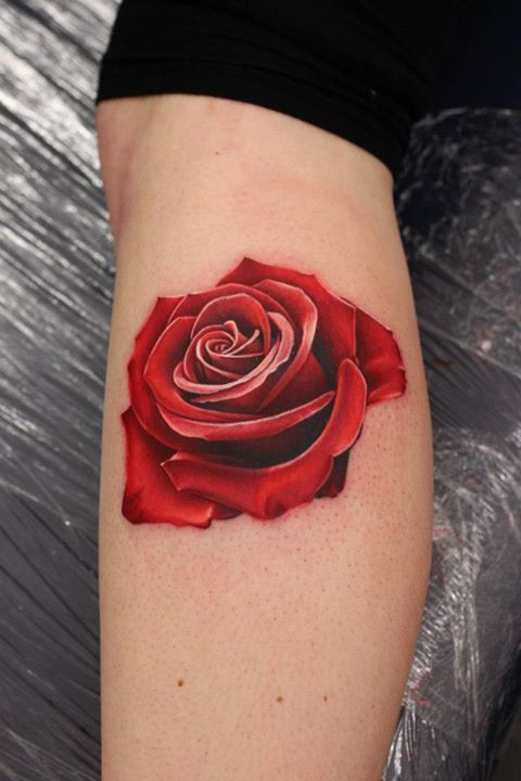 Drawn red rose tiny rose On 25+ Realistic tattoo rose