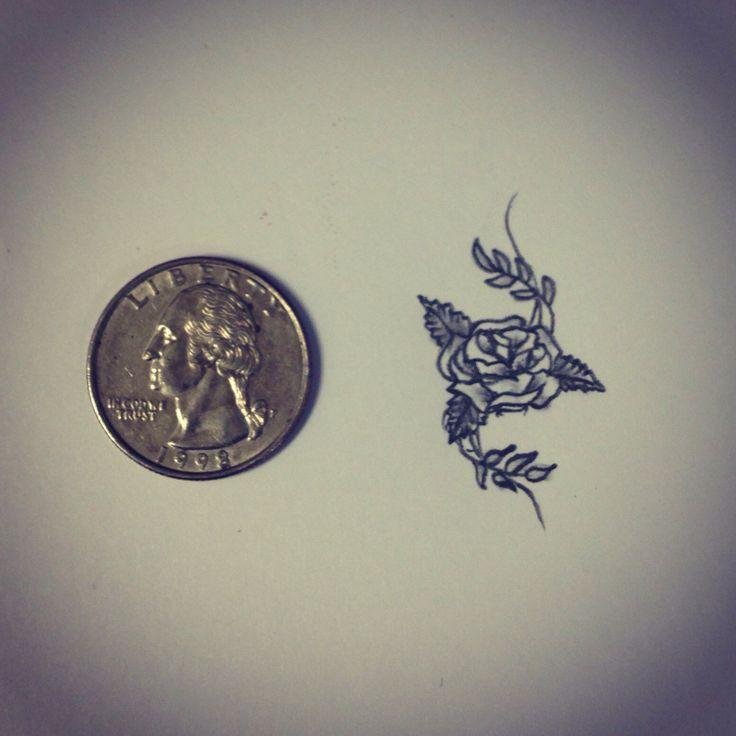 Drawn rose tiny rose Pinterest Small 25+ on ideas