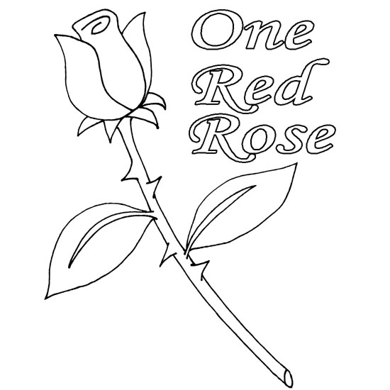 Drawn red rose valentine rose For Red Rose One Day