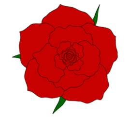 Drawn red rose valentine rose How Step by Roses Easy