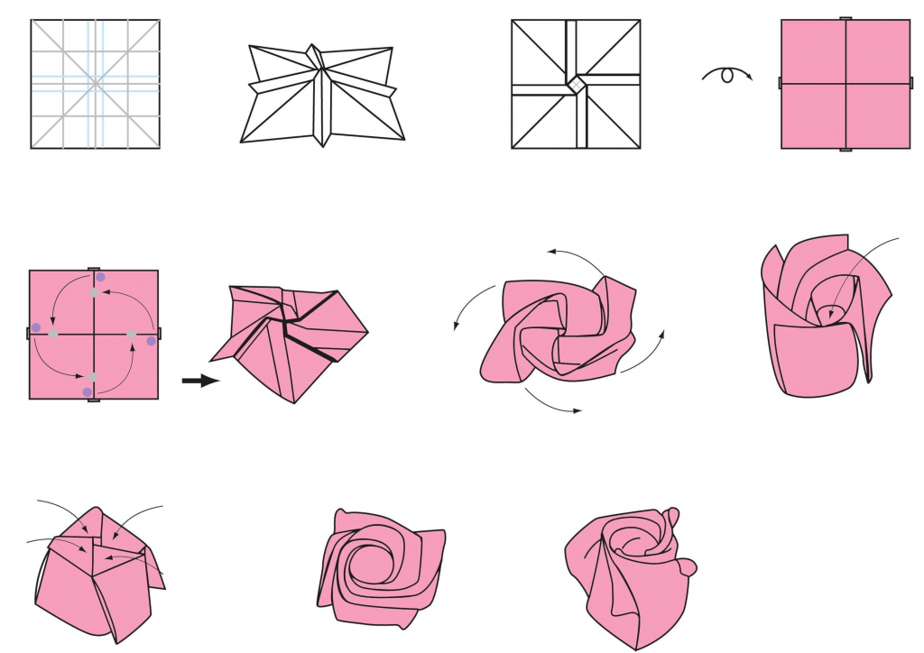 Drawn red rose vase drawing Rose By Drawing Step Instructions