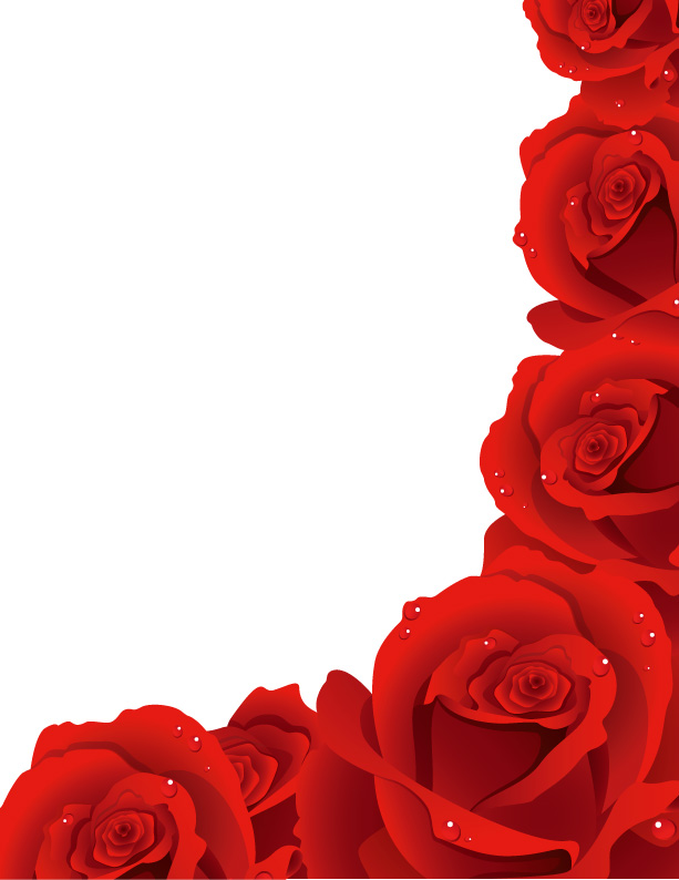 Drawn red rose vector Free Art Rose Clip