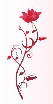 Drawn red rose vine drawing Vine vine Rose on Tattoos