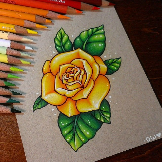 Drawn red rose yellow rose Rose 25+ #drawing Best Finished