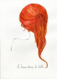 Drawn redhead Firehawk on me dannii red