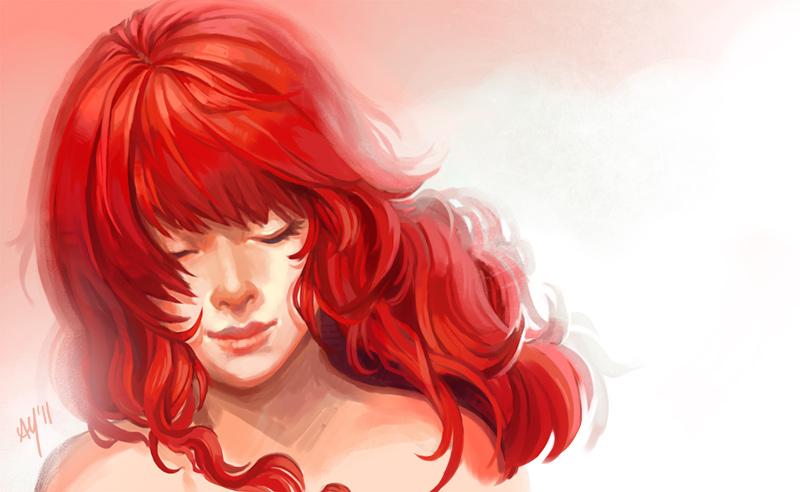 Drawn redhead Drawing ciuchy Redhead Lips on
