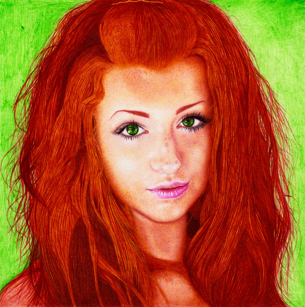 Drawn redhead Pen Girl DantesLP by Ballpoint