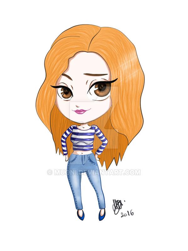 Drawn redhead chibi By Muoni Muoni Digital com