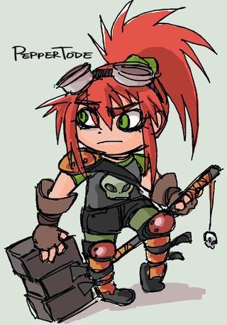 Drawn redhead chibi Another PaigeeWorld old DeviantArt's doodle