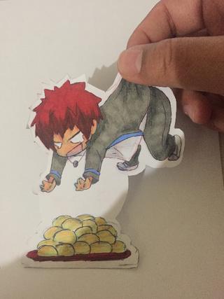 Drawn redhead chibi Away of ;; Kagami's #knb