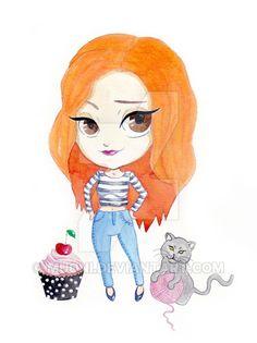 Drawn redhead chibi Muoni deviantart deviantart Portrait on