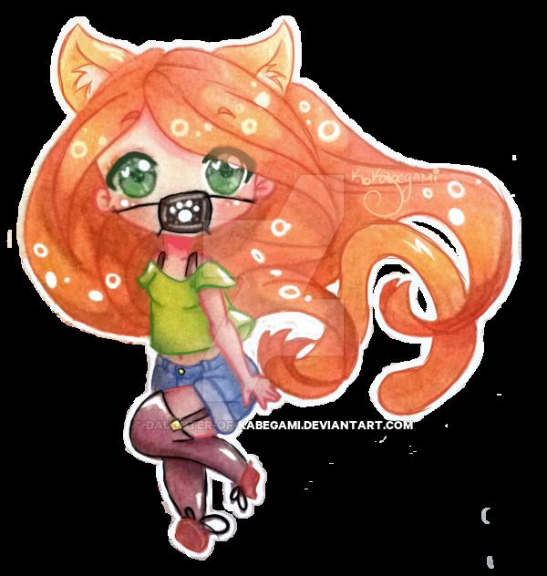 Drawn redhead chibi Of Kabegami by Neko Neko