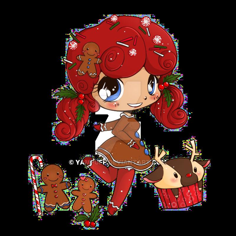 Drawn redhead chibi YamPuff Gingerbreadgirl Commission Commission Gingerbreadgirl