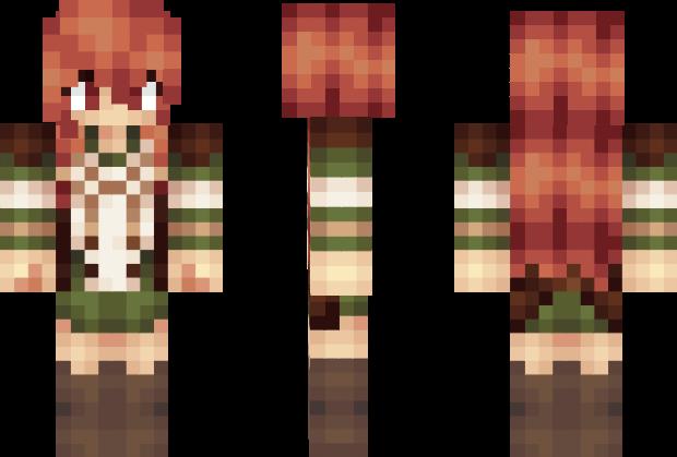 Drawn redhead minecraft skin #11