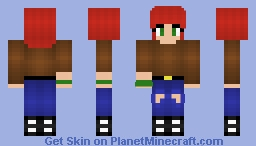 Drawn redhead minecraft skin #14