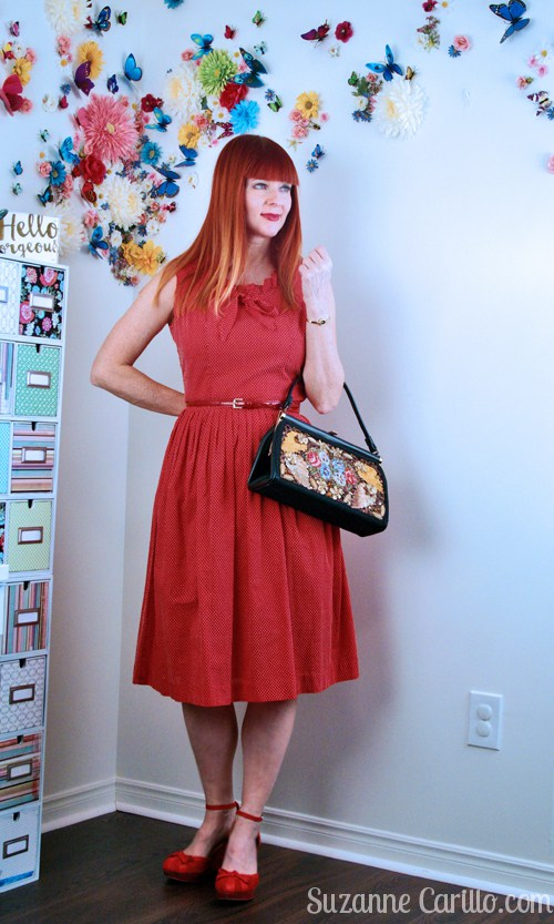 Drawn redhead red dress Carillo wear red wearing how