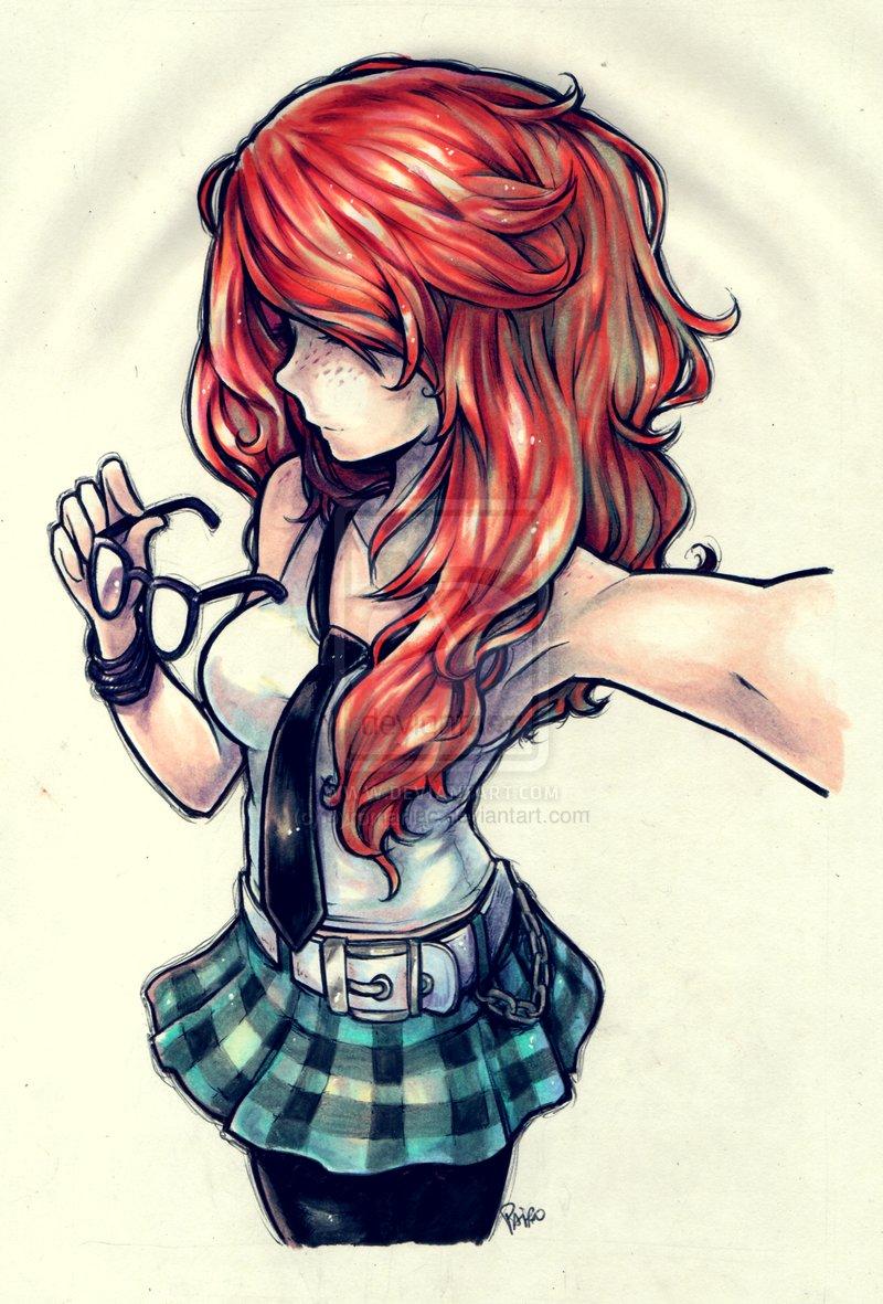 Drawn redhead sad Drawings Art ~  interesting