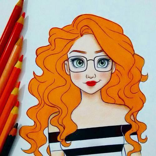 Drawn redhead sad Inspiro mucho …  Inspiracje