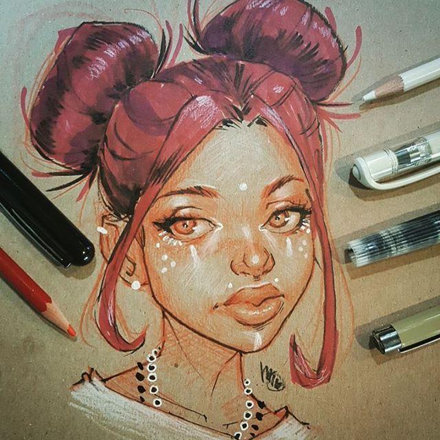 Drawn redhead sad Girl #redhead #sketch ideas Pinterest