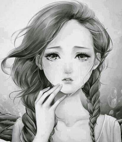 Drawn redhead sad Draw images DrawingsSketching Pinterest Sad