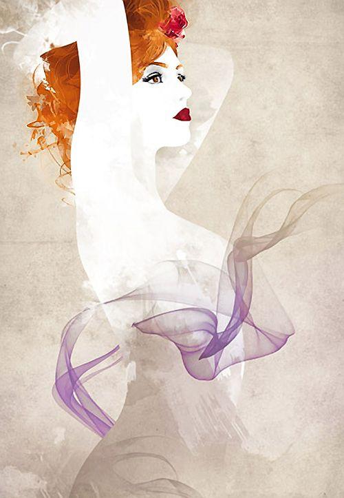 Drawn redhead vintage Images Art Find on Redhead