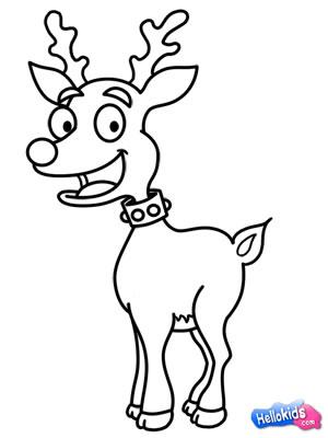 Drawn reindeer Draw to Hellokids how draw