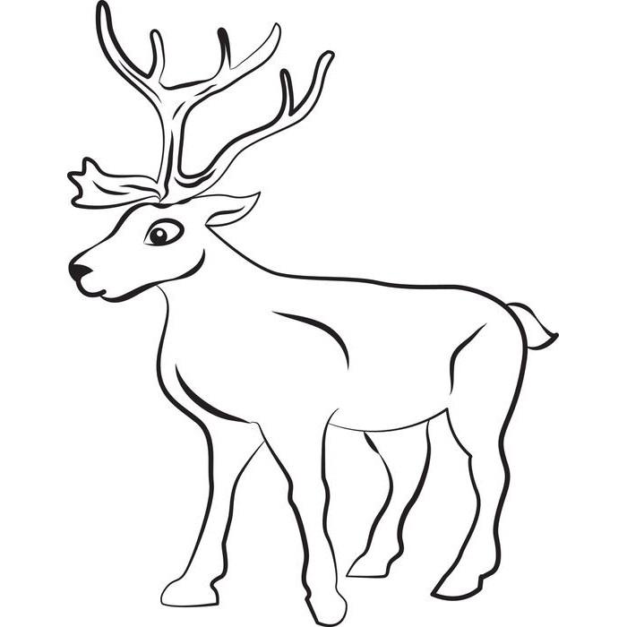 Drawn reindeer Free Templates & Templates Template