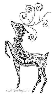 Drawn reindeer Version Full 14jpg Draw