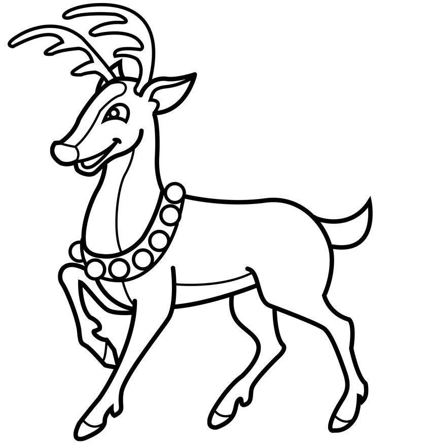Drawn reindeer Pages Coloring Reindeer How 14jpg