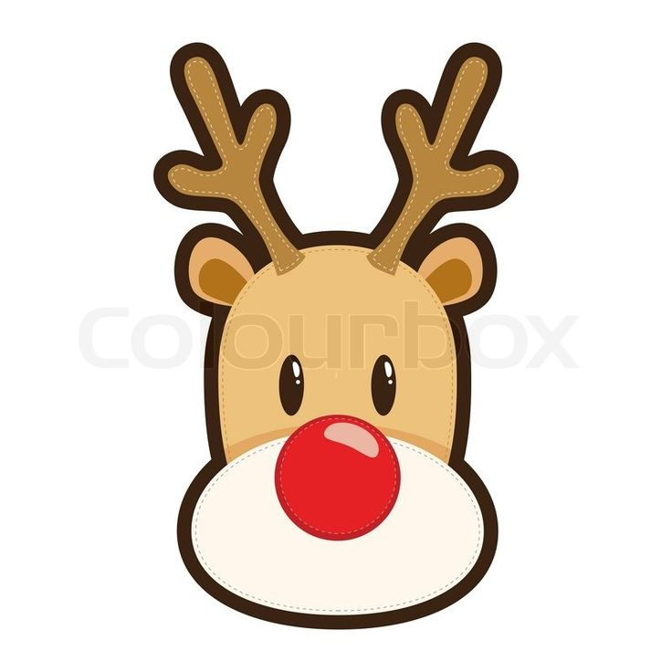 Drawn reindeer animated Head clipart for tshirt Animated