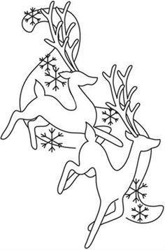 Drawn reindeer awesome This poinsettia cheer Christmas de
