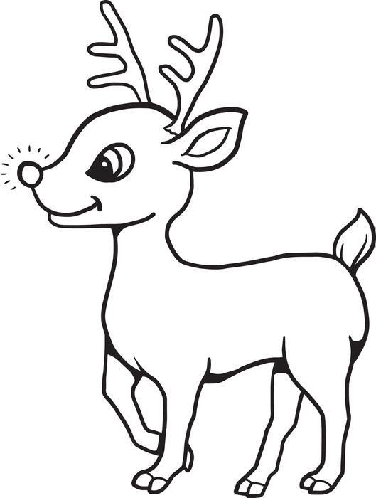 Drawn reindeer baby Reindeer clipart Baby Christmas Pinterest