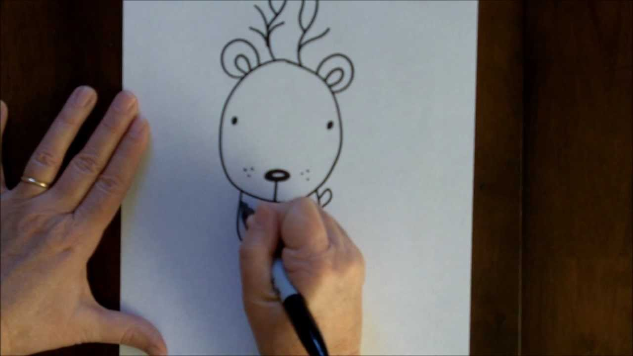 Drawn reindeer beginner How Reindeer Draw a Rudolph