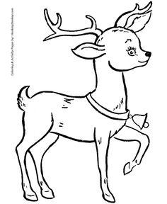 Drawn reindeer bell Rudolph Reindeer Santa's a Bell