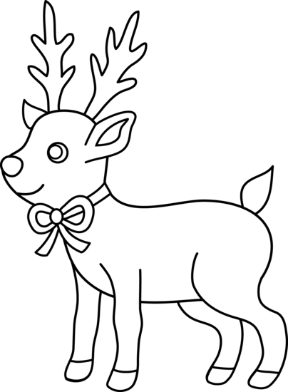 Drawn reindeer black and white Black Deer White deer%20clipart%20black%20and%20white