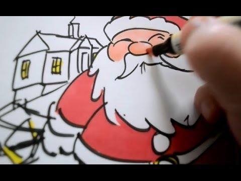 Drawn reindeer card easy Santa Drawing Christmas: christmas Drawing