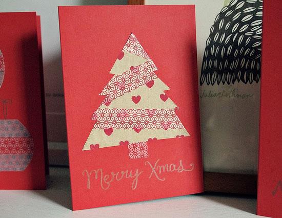 Drawn reindeer card easy Homemade Christmas Diy Ideas &