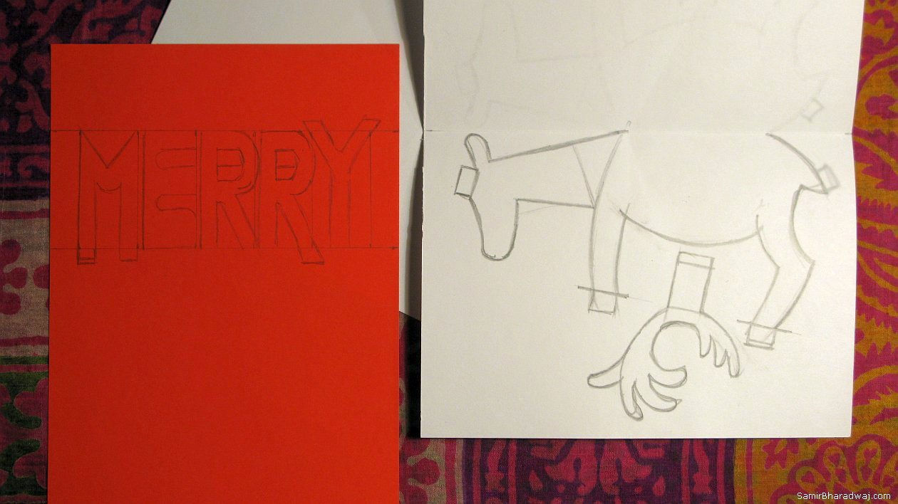 Drawn reindeer card easy Up Samir Bharadwaj Reindeer pop