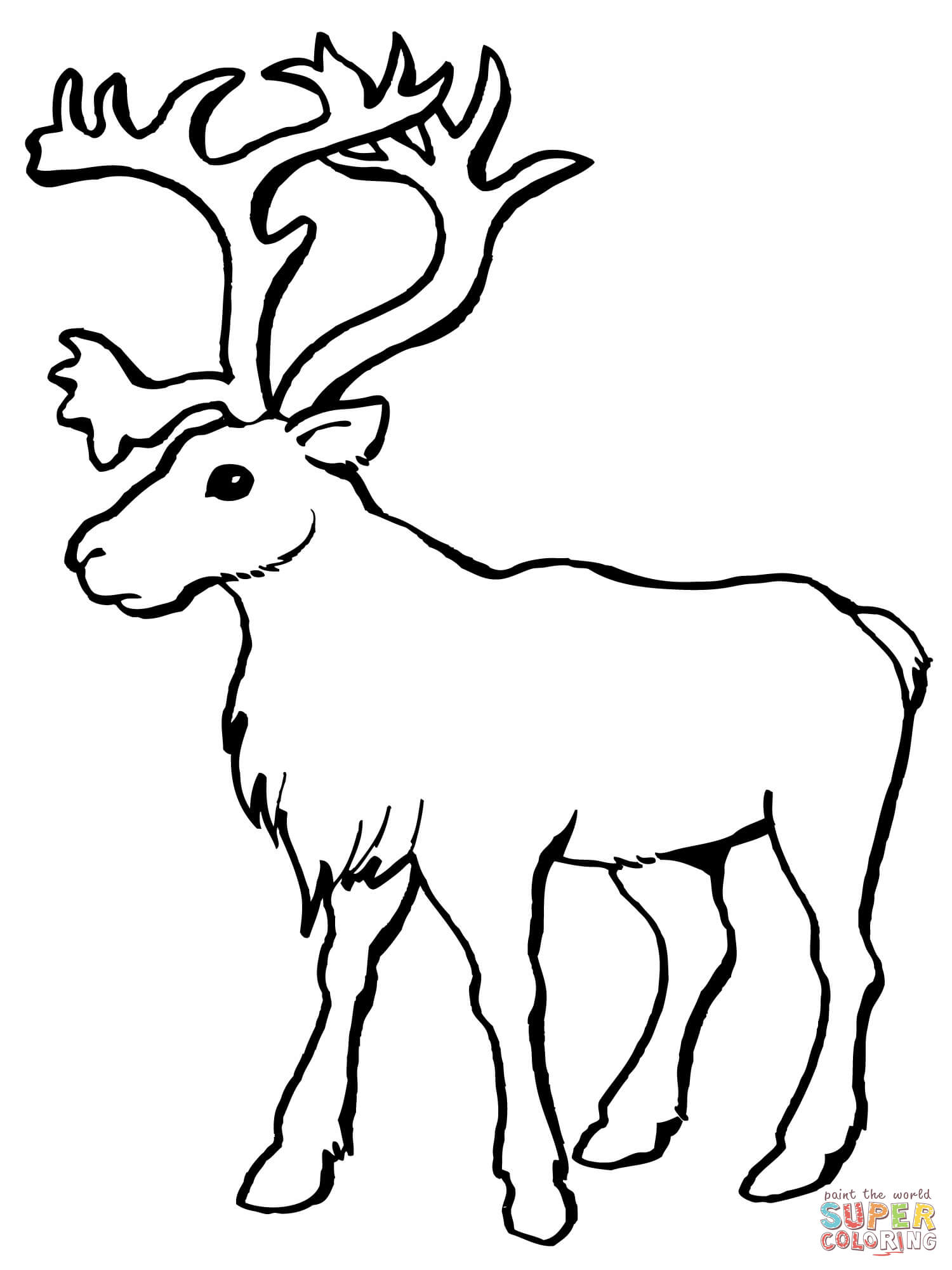 Drawn reindeer caribou Coloring Coloring Caribou the Reindeer