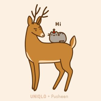 Drawn reindeer cat From  Pusheen Cat and