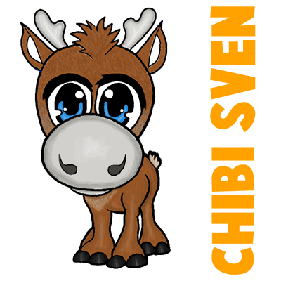 Drawn reindeer chibi Drawing Frozen  from to