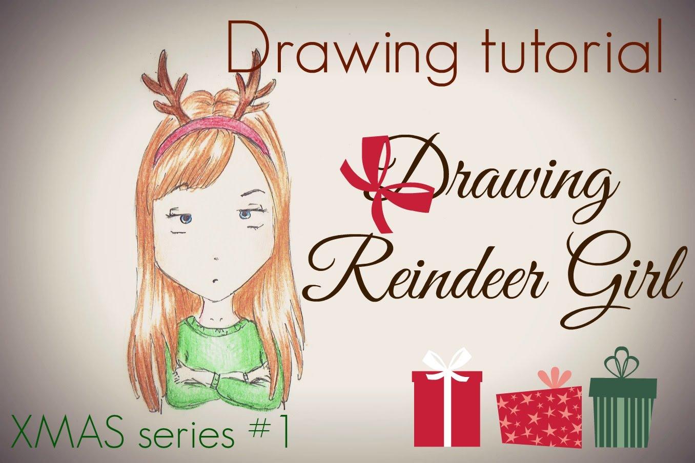 Drawn reindeer chibi Chibi draw series girl Girl