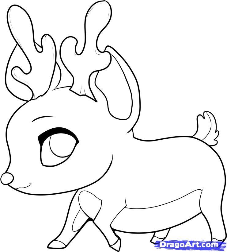 Drawn reindeer chibi 5 Anime to Chibi rudolph