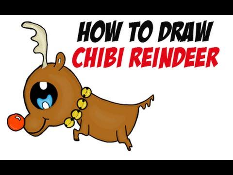 Drawn reindeer chibi How or Chibi the to